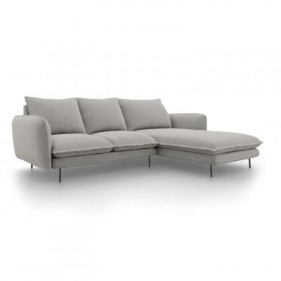 Sofa VIENNA   5 Sitze   Hellgrau   Rechts
