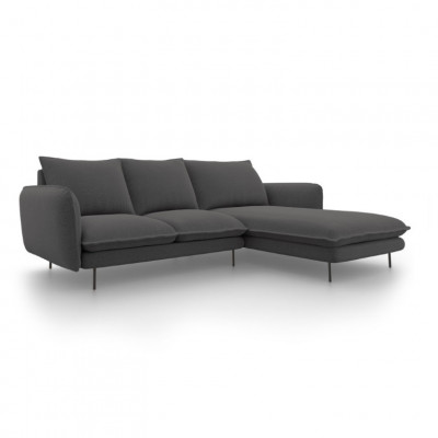 Sofa VIENNA   5 Sitze   Dunkel Grau   Rechts