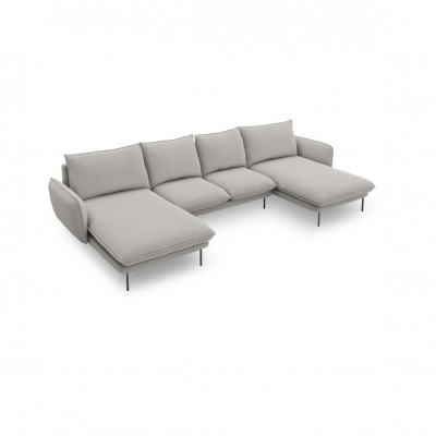 Sofa VIENNA   6 Sitze   Hellgrau