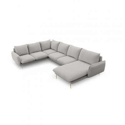 Sofa VIENNA   7 Sitze   Hellgrau