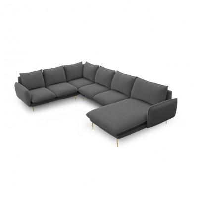 Sofa VIENNA   7 Sitze   Dunkel Grau