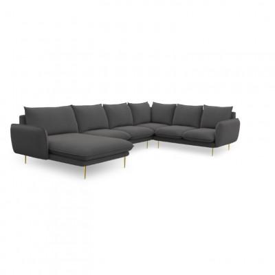 Sofa VIENNA   7 Sitze   Dunkel Grau   Rechts