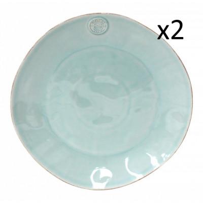Teller Nova Ø 33 cm 2er-Set | Türkis
