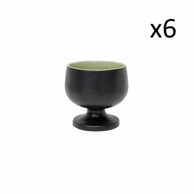 Schale an der Fußriviera 6er-Set | Frisches Grün