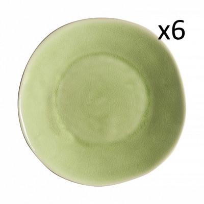 Tiefteller Riviera Ø 25 cm 6er-Set | Frisches Grün
