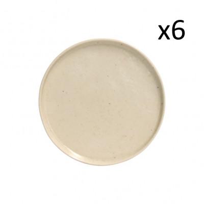 Dessertteller Lagoa Pedra Ø 21 cm 6er-Set | Sahne