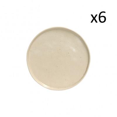 Brotteller Lagoa Pedra Ø 16 cm Set mit 6 | Sahne