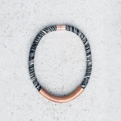 Handmade Necklace Symi   Black & White