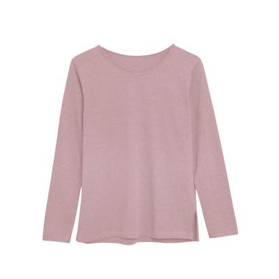 Langärmeliges T-Shirt Baumwolle   Rosa