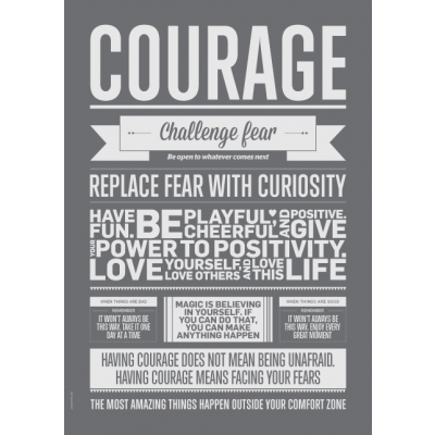 Shades of Grey Poster | Courage