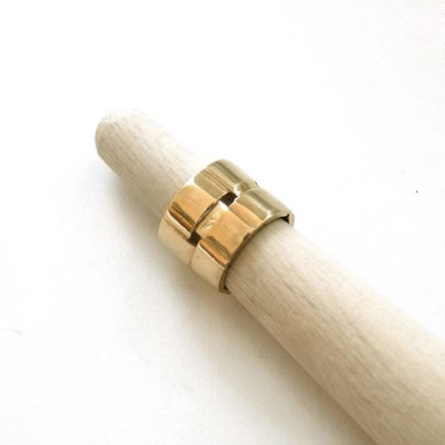 Courtrai II Ring | Gold-plated