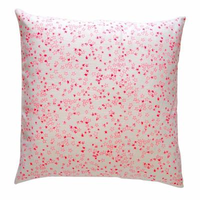 Rosa Sterne Kissen   Quadrat