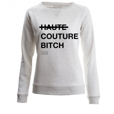 Haute Couture Bitch | Long Sleeves Sweater Cream