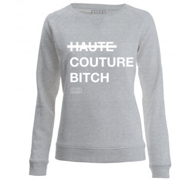 Haute Couture Bitch | Long Sleeves Sweater Grey