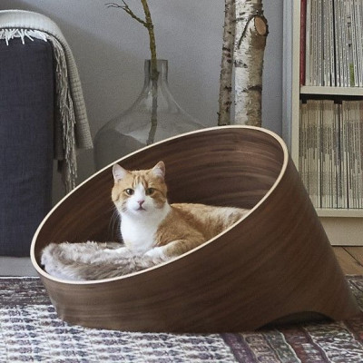 Katzenkorb Covo | Walnuss/Taupe