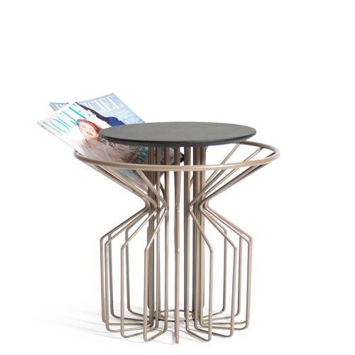 Amarant Coffee Side Table   Champagne