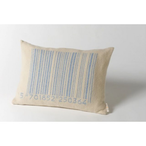 Bar-code Cushion Blue