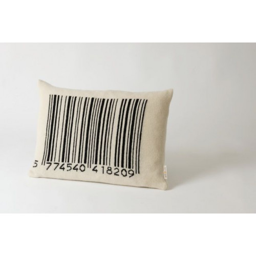 Bar-code Cushion Black