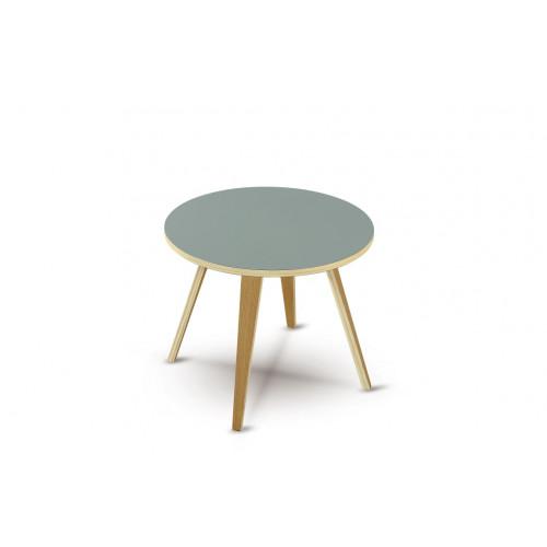 Side Table Arvika Round   Grey + Oak Veneer Legs
