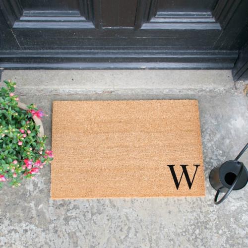 Fußmatte Doormat Monogram Corner Straight | W