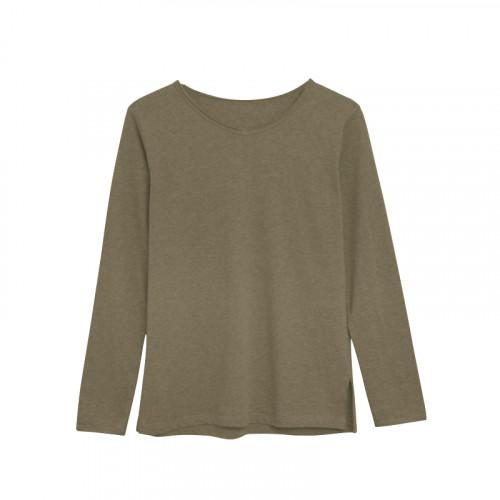 Langärmeliges T-Shirt Baumwolle | Grün