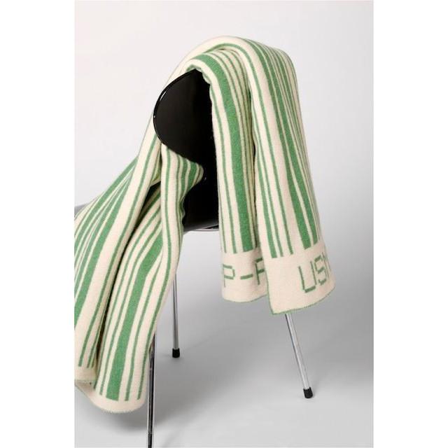 Bar-code Blanket Green