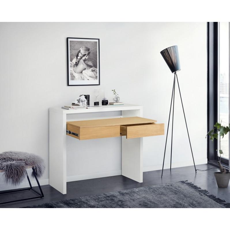 Büro Console 10 | Weiß & Eiche