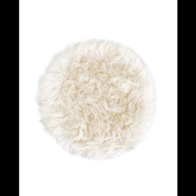 Neuseeland Schaffell Stuhl Kissen Rund   Weiß
