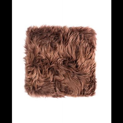 Neuseeland Schaffell Stuhl Kissen Quadrat | Braun
