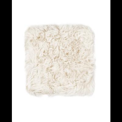 Neuseeland Schaffell Stuhl Kissen Quadrat   Weiß