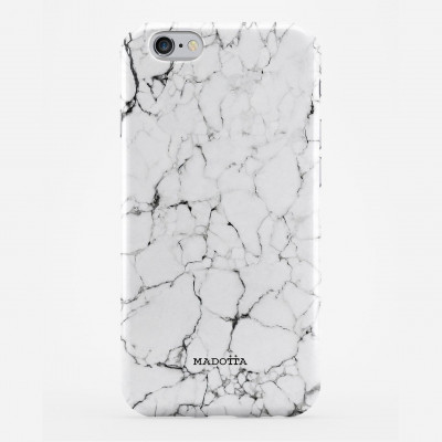 Marble Print Smartphone Case | Cracked White Marble