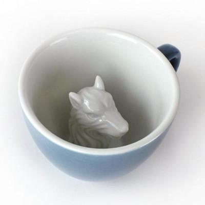 Tasse Creature Cup Wolf | Blau & Grau