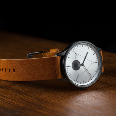 The Architect Analog Watch   Gunmetal, Brown Leather Strap