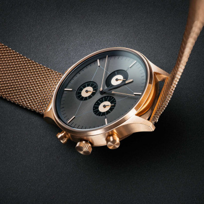 The Engineer Analog Watch   PVD Rose Gold, Rose Stainless Steel Strap