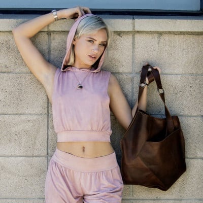 Leather Tote Bag Cross Over | Brown
