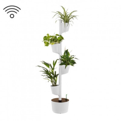 Smart & selbstbewässernd vertikale Pflanzgefäße | Grau