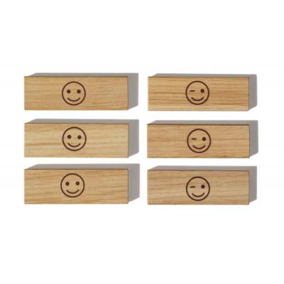 Holzmagnete | Smiley