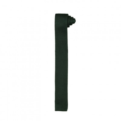 Knitted Tie   English Green
