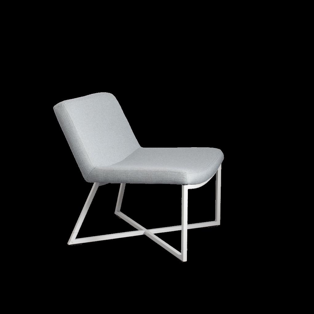 Armchair Zero | Light Blue & White Legs