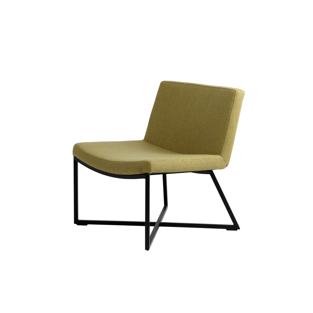 Sessel Zero | Zitronengelb & Schwarze Beine