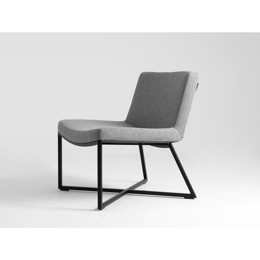 Armchair Zero | Silver Grey & Black Legs