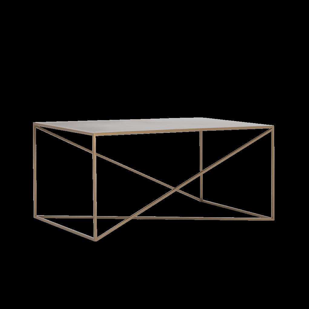 Coffee Table Memo 100 x 60 cm | Gold