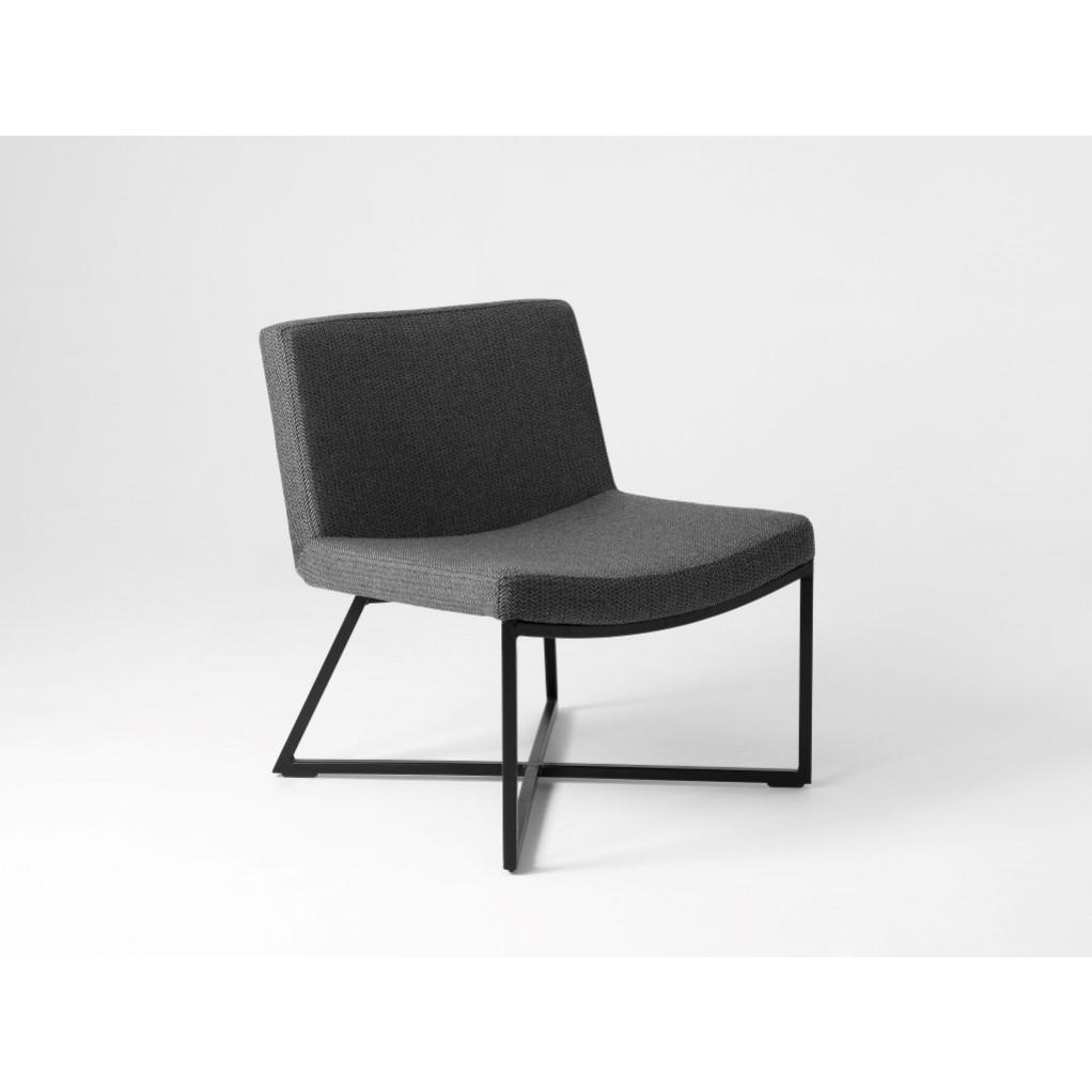 Armchair Zero | Grey & Black Legs