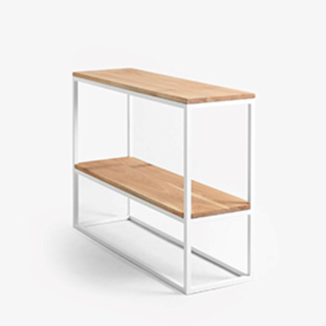 Rack Julita 75 cm 2 Shelves | Oak/White