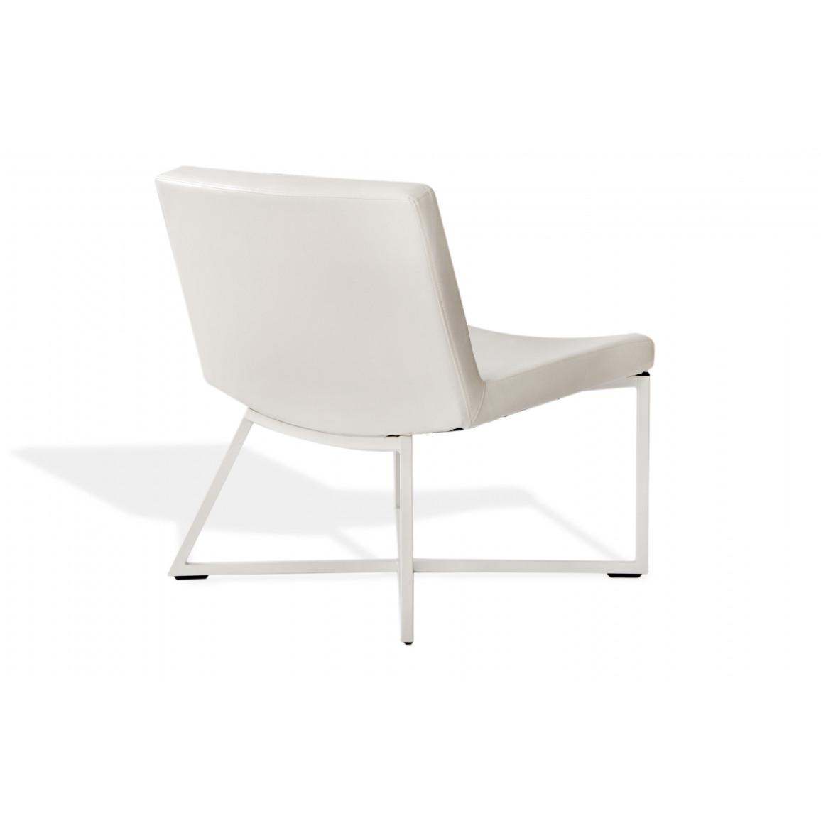 Armchair Zero | White & White Legs