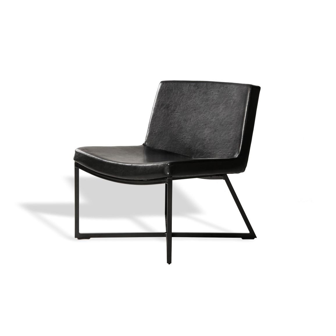 Sessel Zero | Schwarz & Schwarze Beine