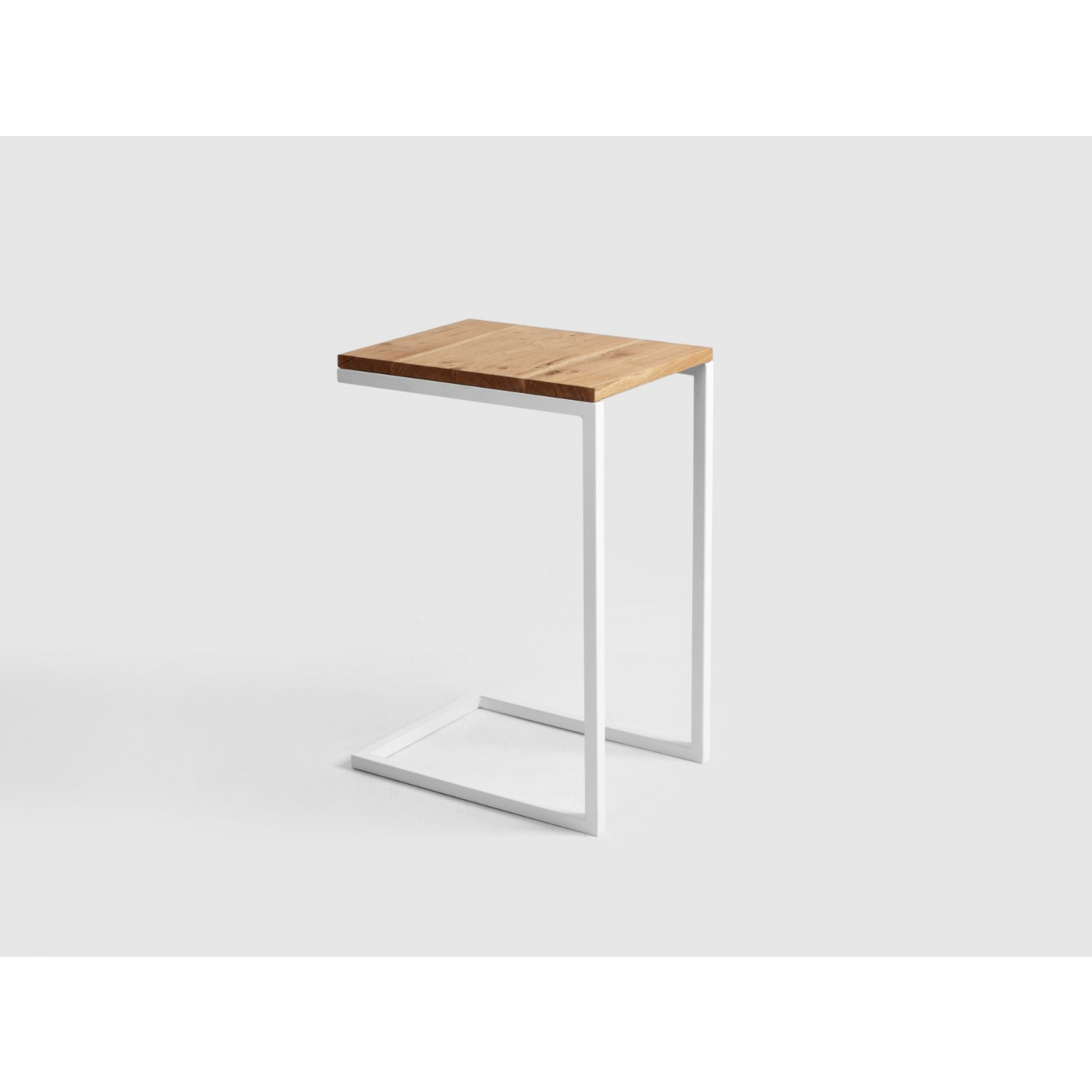 Side Table Lupe 30 cm | Oak/White