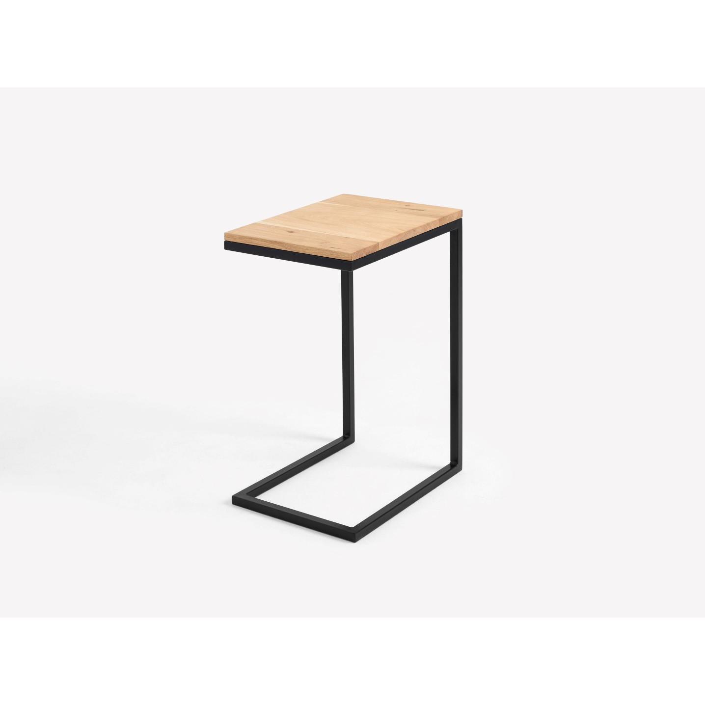 Side Table Lupe 30 cm | Oak/Black