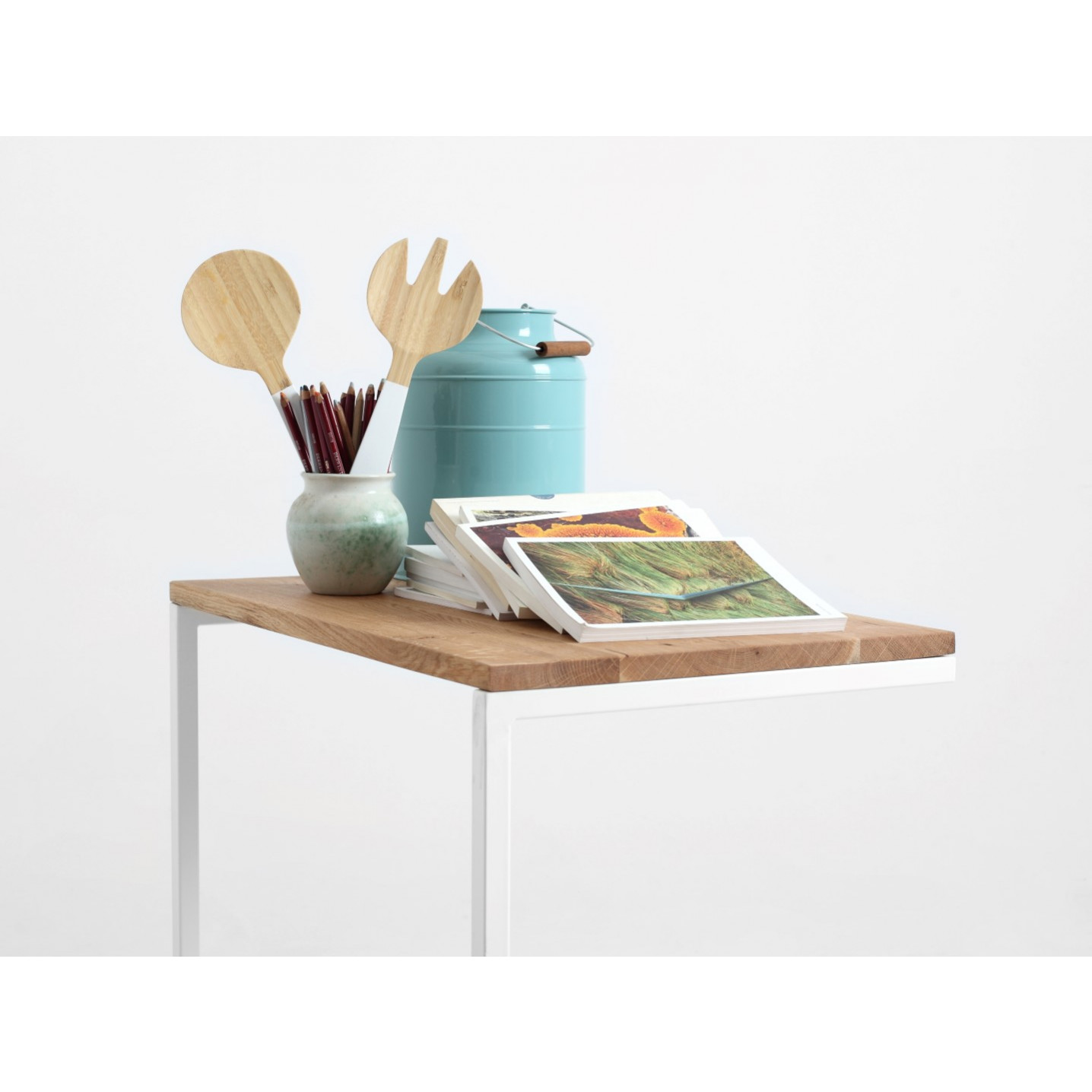Side Table Lupe 60 cm | Oak/White