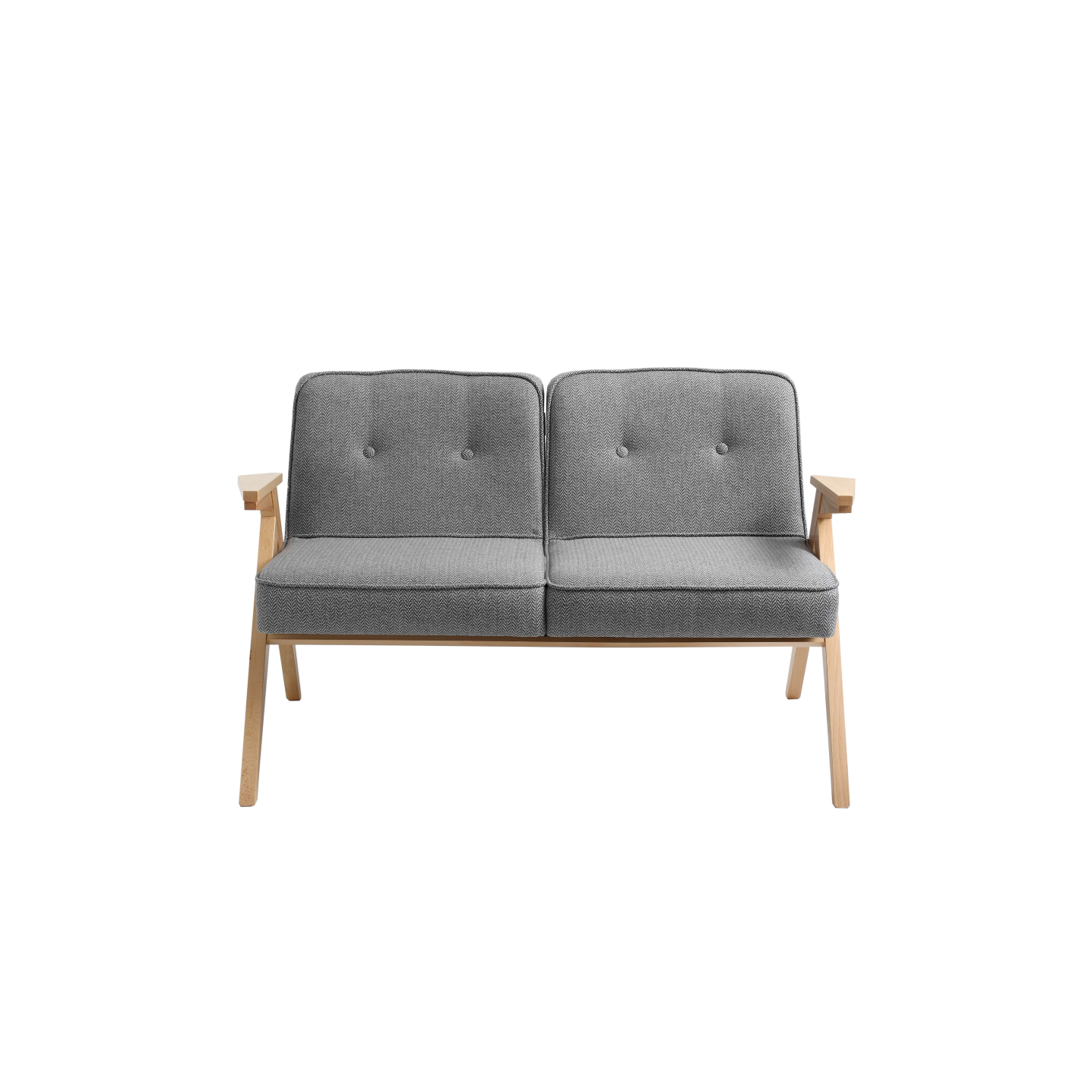 2 Seater Sofa Vinc | Silver Grey